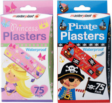75 Kids Plasters Princess Pirates Waterproof Padded Flexible Children toddler 🇬