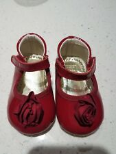 Janie And Jack Girls baby red shoes