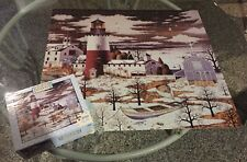 Charles Wysocki Puzzle Lighthouse Americana 1000 Pieces COMPLETE Winter Light