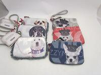 Fuzzy Nation  Dog Wristlet Wallet Coin Purse,NWT