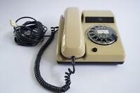 70er Vintage Post Telefon TN Telenorma Wählscheibentelefon Retro beige 70s