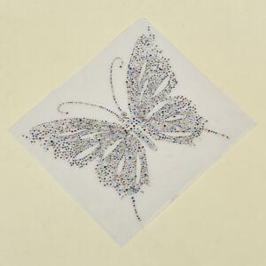Fashion Butterfly Rhinestone Iron on Transfer Embellishment Sewing Supply 1 Pc