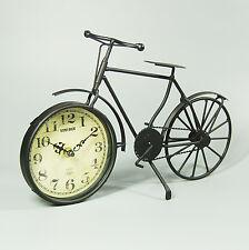 50 cm in stile retrò vintage Nero bicicletta in lega di metallo Orologio Analogico al Quarzo Regalo Antico