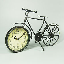 50 CM Retro Vintage Black Metal Alloy Bicycle Quartz Analogue Clock Antique Gift
