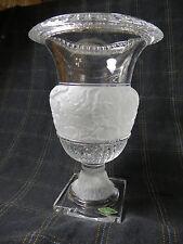Shannon Crystal Compote Champaign,vase,urn  Molded Grape and Leaf Design $450
