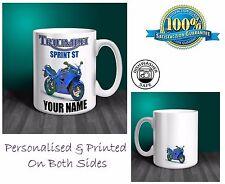 Triumph Sprint ST Motorbike Personalised Ceramic Mug Gift (MB064)