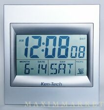 "ATOMIC RADIO CONTROLLED LCD ALARM CLOCK WITH 2"" HIGH NUMBERS"