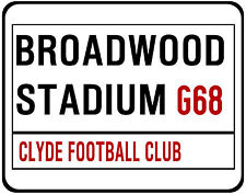 CLYDE F.C. STREET SIGN ON MOUSE MAT / PAD. BROADWOOD STADIUM