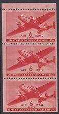 UNITED STATES BKT PANE:1943 6c Airmail SCOTT #C25a  n.h. mint