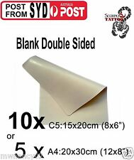 sydney 10 or 5  blank double sided tattoo practice skin skins big or small