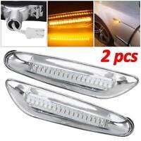 2x LED Flowing Side Marker Indicator Light For BMW E46 E60 E82 E92 E93 Dynamic