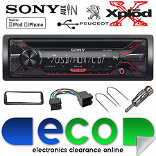 Peugeot 107 Sony CDX-G1200U CD MP3 USB Aux-In Ipod Iphone Car Radio Stereo Kit