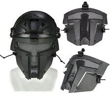Airsoft SPT Metal Mesh Full Face Mask Sparta Tactical AF Mask Helmet Cover Black