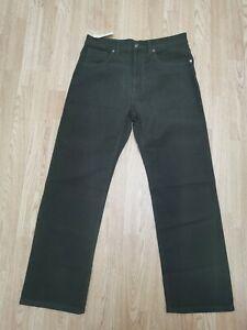 M&S Blue Harbour - Mens Khaki Italian Brushed Moleskin jeans  Size 32W / 29L