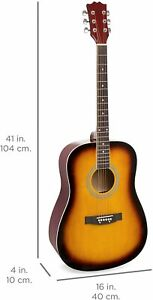 21in Best Choice Products  Full Size Beginner All Wood Acoustic Guitar