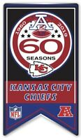KANSAS CITY CHIEFS 60TH ANNIVERSARY PIN 1960 - 2019 SEASON NFL SUPER BOWL 54 LIV