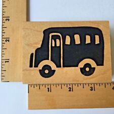 Zimprints Rubber Stamps - School Bus - NEW