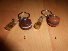 Porte-clé macaron fimo (ton marron)