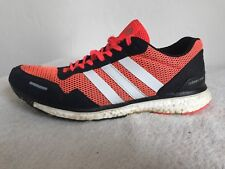 Size 9 Running Trainers ADIDAS Adizero Adios 3 Solar Red Orange Black Art AF6554