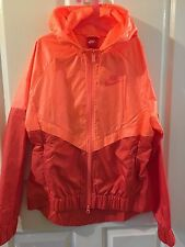 Nike Women's Sportswear Windrunner Full Zip Jacket Orange (Size S) Brand New