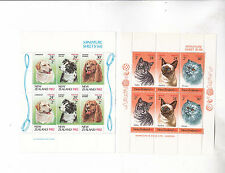 new zealand 1962/3 Sc B114,B117a,two s/s ,cats,dogs. MNH      h344