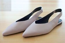 H&M WOMENS FAUX LEATHER SLINGBACKS POINTED TOES VIOLET LAVENDER 5.5 FLATS SHOES
