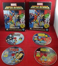 Marvel Super Heroes 4 DVD Set VGC Very Rare