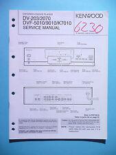 Service Manual-Anleitung für Kenwood DV-203/DV-2070/DVF-5010/DVF-9010/ ,ORIGINAL