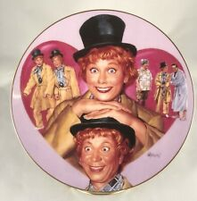 1997 I Love Lucy-Round Plate-The Hamilton Collection-Lucy and Harpa Marx #2553A