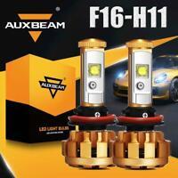 AUXBEAM F16 H11 H9 H8 LED Headlight Bulbs Replace Kit 60W Hi/Lo Beam 6000lm