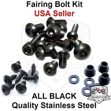 Black Fairing Bolt Kit Body Screws Fasteners for Suzuki GSX-R 600 750 2004-2005