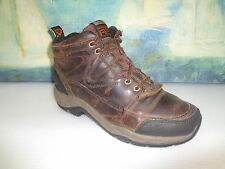 Womens ARIAT ATS Water Proof brown / black leather ankle boots, US 6,  UK 4.5