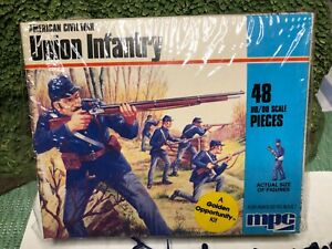 MPC/AIRIX AMERICAN CIVIL WAR UNION INFANTRY HO scale FACTORY SEALED