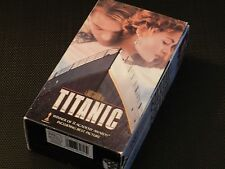 Titanic VHS Video Tape Cassette One and Two