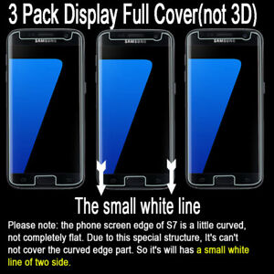 [3-Pack]SOINEED Tempered Glass Screen Protector Film Cover For Samsung Galaxy S7