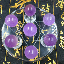 200g Clear Natural Purple QUARTZ CRYSTAL Sphere Ball Seven star array +STAND