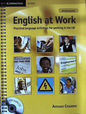 ENGLISH AT WORK with Audio CD Language for Working in UK-CAMBRIDGE for ESOL @new