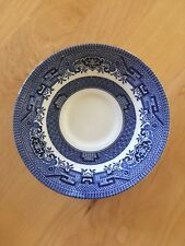 Churchill China Willow Blue Saucers - England - Set of 5
