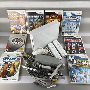 ✅NINTENDO Wii Console Console With 2 Remotes & Nunchuck - Extras & Games Bundle