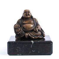 Bronze Buddha on a solid marble base. Art Sculpture, Gift, Sculpture, Ornament.