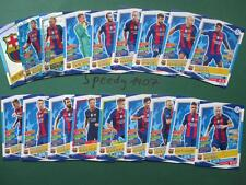 Topps Champions League 2016 17 all 18 Barcelona Messi Team Cards Logo Goal King