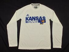 adidas Kansas Jayhawks - White Poly Long Sleeve Shirt (XS) - Used