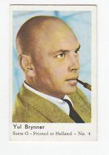 """Vintage 1950s """"Dutch Gum"""" Movie Star Card of YUL BRYNNER"""