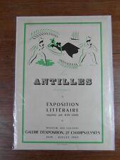 AFFICHE (40x28) 1945 Expo LES ANTILLES HEUREUSES Jean Loize PARIS ill BOUCHAUD