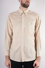 Lacoste Mens Yellow Check Long Sleeve Shirt Size 40 ( M )