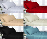 200TC 100% Egyptian Cotton Luxury Satin Stripe Fitted & Flat sheets All Sizes
