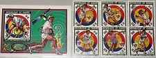 GUINEA 1987 1180-85 Block 281 A 1055-1061 Olympics 1988 Seoul Tennis Olympia MNH