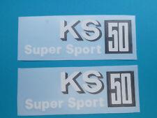 Zündapp Aufkleber KS 50 Super Sport Typ 530 KS 50 WC Sport Super 2 Stück