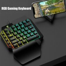 LED Gaming Keyboard Mouse Combo Wired USB RGB Ergonomic for PC Laptop PS4 Xbox