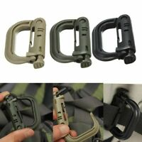 Molle Webbing D-Ring Carabiner Clip Molle Webbing Backpack Buckle Snap Tactical